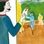 Le Douanier Rousseau peignant le tableau Joueurs de football